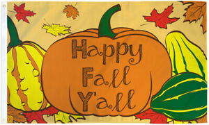 Happy Fall Y'all Flag 3x5ft Happy Fall Autumn Decor Cute Holiday Flag