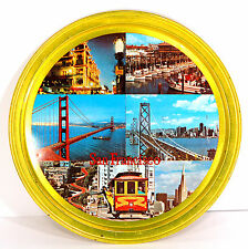 REDUCED $ VTG San Francisco Souvenir Metal Serving Tray Color Pics Golden Gate
