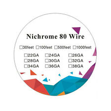 100ft Nichrome 80 26 Gauge AWG Round Wire Roll 0.221ohms per inch Ni 80 Wire
