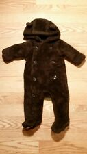 Baby Gap Boys Bunting Suit 0-3 Months Brown Bear CUTEST ADORABLE Infants Hooded