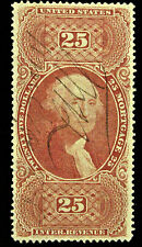 USED $25.00 UNITED STATES REVENUE FIRST ISSUE STAMP - SCOTT # R100C