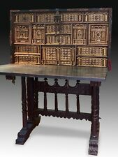 Castillian desk with pedestal. Walnut, wrought iron, etc.Spain, 17th century wit