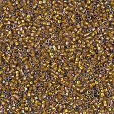 Miyuki Delica seed beads taille 11/0 (1.6 mm) Sombre Safran AB DB1691 7.2 g tube