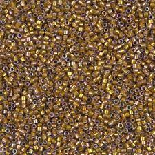 Miyuki Delica Seme Perline Taglia 11/0 (1.6 mm) Zafferano scuro AB DB1691 7.2 G (B79/6)
