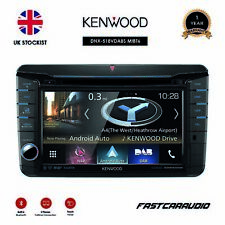 "KENWOOD DNX-518VDABS T5 VW SHAPED 7"" NAV APPLE CARPLAY ANDROID BLUETOOTH DAB+"