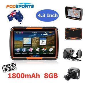 "4.3"" Motorcycle Bluetooth GPS SAT NAV Navigation Waterproof  Touch Screen + Maps"