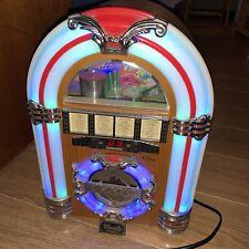 More details for steepletone classic rock mini tabletop jukebox mp3 radio cd player