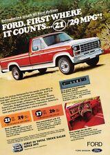 1981 Ford F-150 Pickup Truck Original Advertisement Print Art Car Ad K36