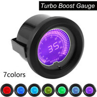 2'' 52mm PSI Turbo Display LED Vacuum Boost Meter Gauge Auto Car 12V 7 Colors