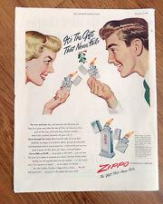 1948 ZIPPO Lighters Ad  Pocket Zippo Table Zippo