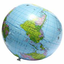 38cm Inflatable World Globe Earth Map Kids Teaching Geography Bal Map Beach G6C4