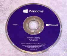 Genuine Microsoft Windows 10 Pro Professional 64 Bit DVD ONLY