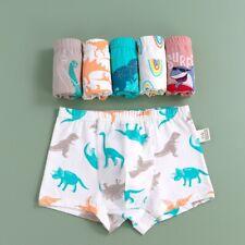 4PCS Boys Underwear Baby Cotton Dinosaur Boxer Briefs Shorts Kids Toddler Undies