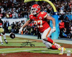 Chiefs Travis Kelce Authentic Signed 16x20 SB LIV Horizontal  Photo BAS #WE59635