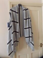 M&S COLLECTION LIGHTWEIGHT WRAP, DUCK EGG STRIPED, ONE SIZE, BNWT