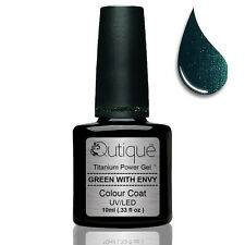 Gel Nail Polish Colour GREEN WITH ENVY -Emerald Green Shimmer-Nail Wipes