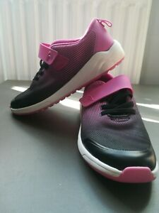 Clarks Trainers Childrens Shoes Size Uk13. 5 F Black Pink