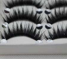 5 Paires Fait Main Maquillage Naturel Épais Faux Cils Long Cils Extension