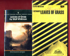 Leaves of Grass by Walt Whitman + Cliffs Notes study guide -Free Shipping