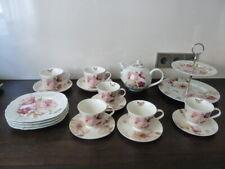 18 Teilig Nostalgie Lisa Audit Porzellan Teekanne, Etagere, Tassen, Teller