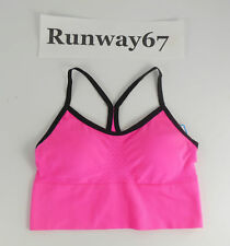 Sports Bra Cami Padded Push-Up Racerback Neon Pink S Small Fruit of the Loom
