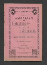 U.S. 1894 THE AMERICAN PHILATELIST AND COLLECTOR, DECEMBER ISSUE, 18 PAGES