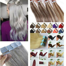 Seamless 20pcs PU Skin Weft Tape in Remy Human Hair Extensions 16-26inch 30-70g