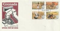 GRENADA 1979 ROWLAND HILL CENTENARY SET OF ALL 4 STAMPS ON FIRST DAY COVER n