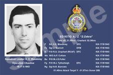 aviation art pilot photo postcard WW2 Henry Maudslay 617 Squadron Dambusters