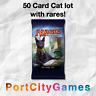 50 Card Cat lot Magic MTG w/ Rares + FREE bonus Rares & Booster Packs!
