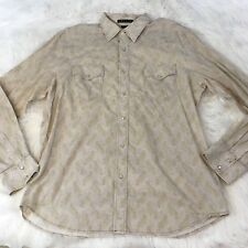 Theory Men's Shirt Size XL Pearl Snap Long Sleeve Paisley Print