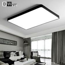 Modern Led Ceiling Lamp Office Guest Living Study Bed Room Home Black Rectangle