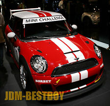 "Mini Cooper 4"" Dual Rally Racing Bonnet Boot Stripes Decal Sticker Vinyl Wrap"