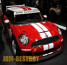 "Mini Cooper 4"" Dual Rally Racing Bonnet Boot Stripes Decal Sticker Vinyl Wrap"