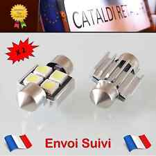 2 x Navettes LED C5W 4 SMD 31 mm Canbus Anti Erreur ODB Blanc Pur / FRANCE !