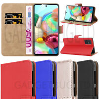 CASE FOR SAMSUNG GALAXY A71 REAL GENUINE LEATHER SHOCKPROOF WALLET FLIP MAGNETIC