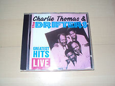 CD CHARLIE THOMAS & THE DRIFTERS greatest hits live