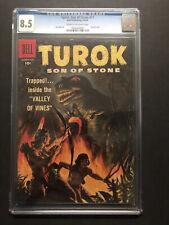 TUROK SON OF STONE #11 (1958) CGC VF+ 8.5 CRM/OW NICE BOOK!