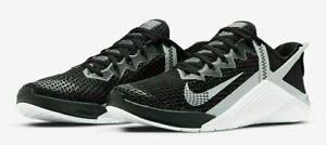 Nike Metcon 6 Flyease Men's Shoes Sz 7.5 Black/White DB3790 010