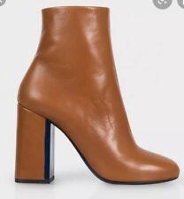 Paul Smith Tan Leather Eileen Heeled Boots UK 6 EU 39 RRP £495