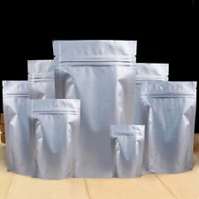 Resealable Pure Aluminium Foil Stand Up Bags Pouches Self Seal Bag Food Pouches