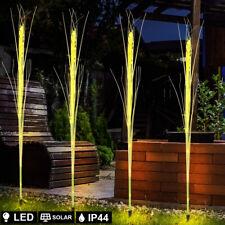 LED Solar Außen Steck Leuchte Getreide Ähren Design Deko Garten Akzent Lampe