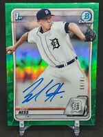 2020 Bowman Chrome 1st Bowman ZACH HESS Auto Green Refractor /99 CPA-ZH TIGERS