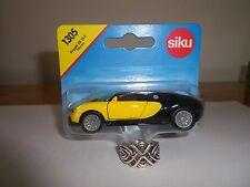 Siku Bugatti Veyron Yellow / Black 2 Tone (New & Sealed) 1:55 (Item # 1305)