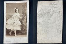 Disdéri, Paris, Ernestine Urban, danseuse Vintage cdv albumen print.