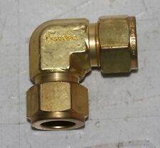 "5/8"" OD Tube Brass Elbow Fitting  Swagelok B-1010-9"