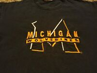 Vintage Michigan Wolverines TShirt Embroidered Spellout Team Edition Men XL Blue