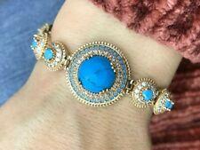 Silver Sapphire Ladies Bracelet Moyb Turkish Handmade Jewelry 925 Sterling