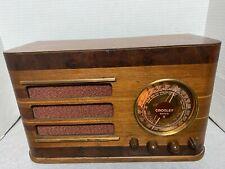New ListingModel 817 Wood Crosley Super 8 Tube Radio - Restored Mirror Dial - Circa 1938
