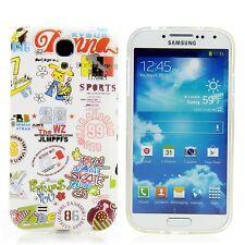 Samsung Galaxy S4 Silikon Case Handy Schutz Hülle Design Comic Weiß
